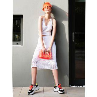 fashion fashioneditorial knitwear knitwearfashion lookbook lulu_handmade_bags modern modernoutfit nikostsirosphotography nimaliminalknitting orange ss20 ss2020 style stylish