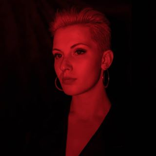photography portraitphotography lithuaniangirl leather dark leatherjacket redlight portrait red lithuanianphotographer
