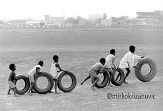khartoum picoftheday play tire mkmoment bwstyles_gf africa nikon sudan blackandwhite streetphotography photo bw_lover recycling game l4l playing children potd