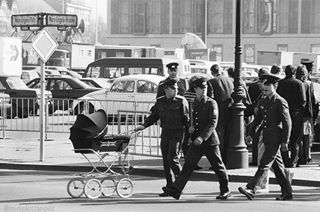 stroller bwstyles_gf russian walk photo sunday berlin picoftheday child fineartprints humor russians www bw_lover nikon epsondigigraphy germany potd streetphotography funny baby mkmoment army soldiers l4l cadet soldier blackandwhite