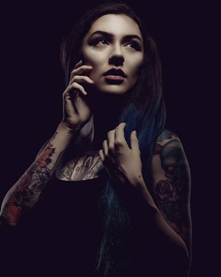 art artist beauty bluehair bowens camera colors drama dynaphos fashion flash girl hairstyle instadaily light makeup model photographer photooftheday photoshoot portrait pose rose rosetattoo shadow skull skulltattoo studio style tattoos