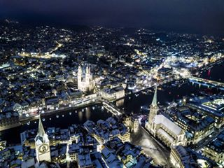 drone night beautifulday aerial winter dji city photooftheday mavicpro switzerland amazing zurich picoftheday photography flying beautiful llove fly evening lights cityscape