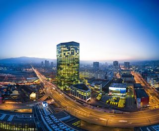 primetower night incredible beautiful dji evening lights city mavic tower sunset fly sky industrial colors stunning cityscape zurich switzerland insane igers pano picoftheday place amazing view panorama drone aerial