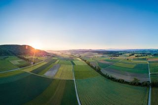 wakeup thurgau sunrise sun stunning riseandshine landscape high frauenfeld fly farm drone dji colors bluesky beautiful amazing aerial