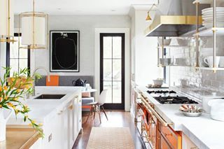 quintessentialkitchens interiors repost kitchens french brass orange interiordesign