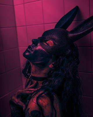 sexy pink darkmood model remonberkersphotography bunny inked donniedarko bunnymask photography fashion inkstagram portraiture moody mask alternativegirls bunnyears rabbitmask portraitmood photoshoot