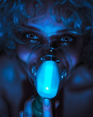 scifi futuristic eyes distopian bluemood girl cyberart remonberkersphotography oxygen instagirl visualambassadors creativedirection blue colorgel canon glow bluelight oxygenmask mask dark cyber photoshoot breathe neon model moody cyberpunk bladerunner portraitmood dutch