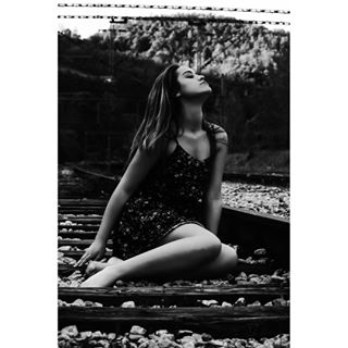 photography getaway melancholic teen journey railway portrait train aesthetic photo railroad grunge girl indie blackandwhite wanderlust alternative wander pensive