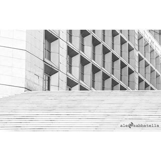 france ladefense paris stairs architecture windows blackandwhite