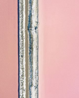 millenialpink manmade pink fineart margheritadisavoia composition verysalty coastal italy aerial lines landscape pastels commerce industry lakes puglia christmassun saltflats structure finiteresources salt aerialphoto ilovegold theplightofman archdaily minimal dezeen oneearth tracks