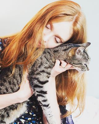 editorial fashionphotographer cat gingerhair instacats inmystudio hair greytiger steffenhofemann redhair beautyphotography model