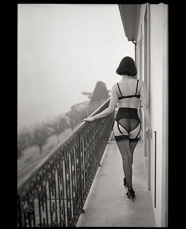 6x9 acros100 analog balcony composition filmfeed fog id11 ishootfilm lingerie mist oflightandsilver perspective