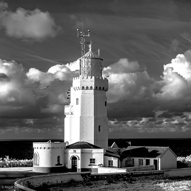 clouds landscapephotography isleofwight blackandwhite nigelfrench highcontrast infrared lighthouse