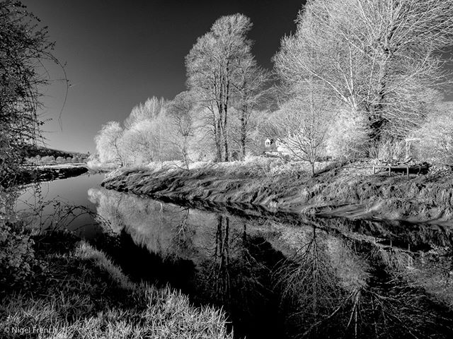 landscapephotography irphotography earlyspring reflections nigelfrench lewes sussex infraredimages southdowns ouse creativeir irphoto creativeinfraredglobal southdownsnationalpark blackandwhite eastsussex infraredphotography ousevalleyway