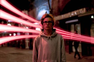 red photoshop fakelights killergrams shadows wroclove neon lights way2ill adobecreativecloud pink promo enter_imagination hoodie longexposure