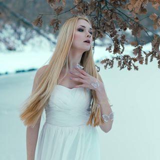 mistery blue frozenlake hair fineart mood model cold butterfly winter blonde portrait ice frozen moodygrams eyes nymph breath silence nordic pose teal dress