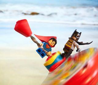 sea lego® legobatman lego boys_on_tour beach canon_photos canonphotography cannon lego_superman spinningtop lego_hub legoinstagram