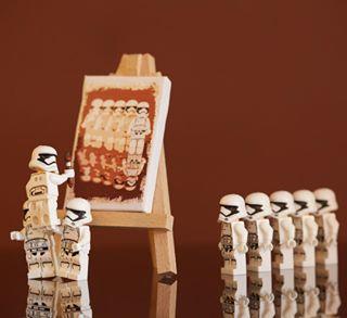 legoland lego® stormtroopers legoart legominifigures easelart canon_photos canonphotography painting legostarwars legomania legophoto legoinstagram lego_hub artist posing_for_portrait legostormtroopers