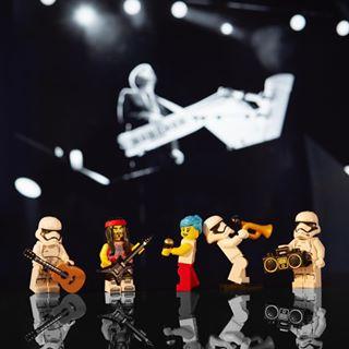 rockingout legostormtrooper lego® onstagewithhumanleague stormtroopers onstage humanleague jamming legoinstagram legoart canon canon_photos musicfestival lego_hub legostarwars brainboxphotography lego