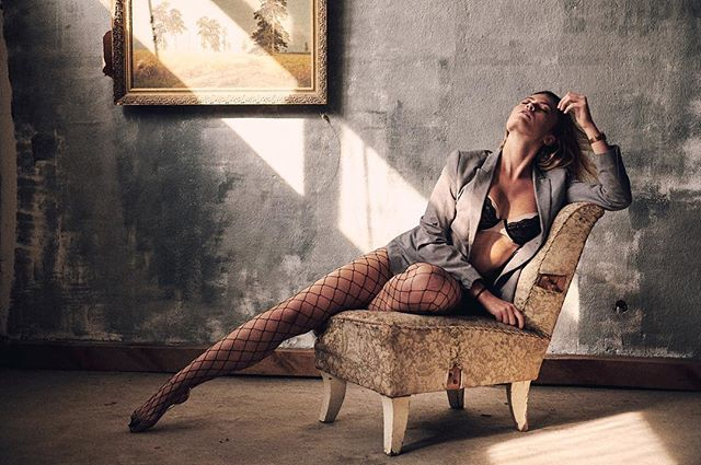 art chair feelings fishnetstockings jaket light model modeling portrait vibes