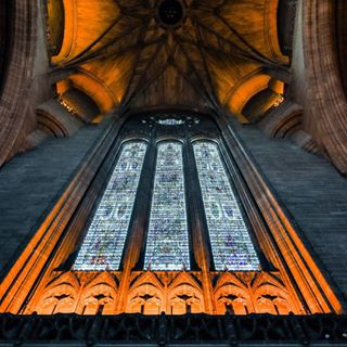 cathedralcolours stainedglass arches masonary nikonshooter architecture gothicarchitecture liverpoolcathedral churchlighting
