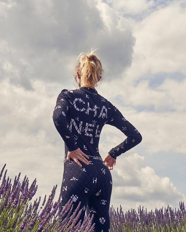 fashion ski styled photography chanel lavender