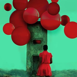 conceptualphotography surrealism surrealphotography redcolor fineartphotography balloons stran photography