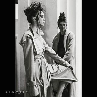 clothes elenaburenina neogothic hairstyle fw1718 fasion runway burenina ikwydln ukrainianfashionweek show kiev ufw ikwydlnbackstage style ukraine fashionweek collection punk model beauty ukrainianfashion backstage