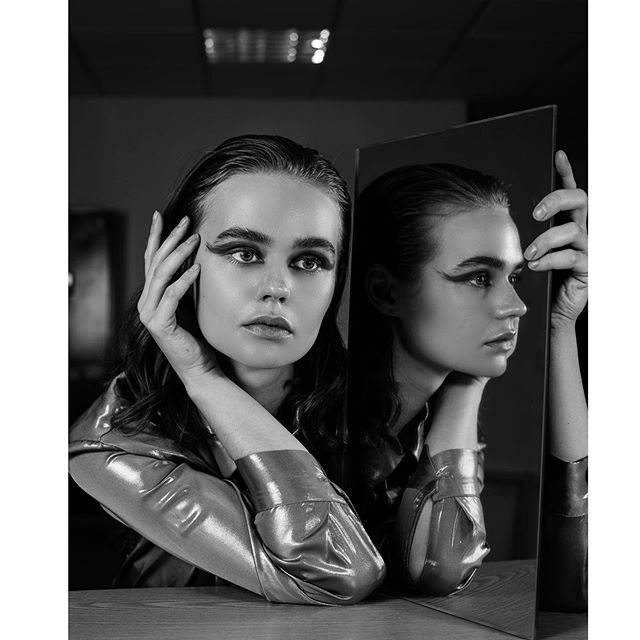 blackandwhite duality nikon portrait 50mm fashion editorial london model reflection identity