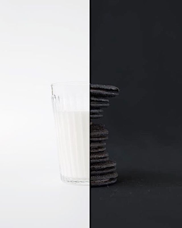 wednesdayafternoon blackandwhite milkandcookies stilllifephotography