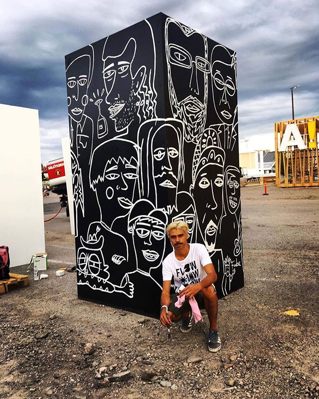 art artistportrait cordel culture fabupires flowfestival flowfestival2018 folclore helsinki paintingdone peoples