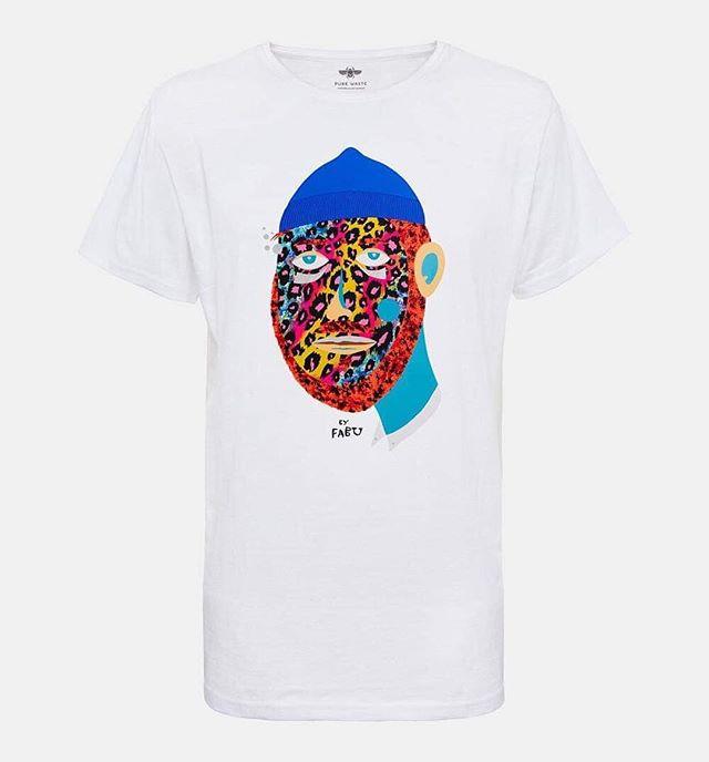collabo tshirtdesign art fabupires purewastetextiles helsinki tshirt mixedmedia mixedmediaartist