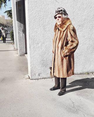 lensculture_streets wintersunshine triestephotodays genten freddobecco pelliccia streetphotography trieste_street anziani elderwomen freezin mobilephotography martinparr furcoat