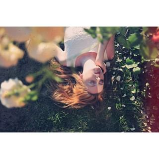 model dress love instabeauty sun dream ginger redhead instamood flowers makeup photoshoot summer