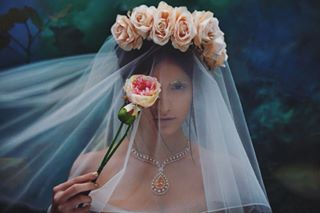 wandering beauty editorial fashion feral ghostly jewellery harpersbazaar colour haunting art floral bride veil photography woods