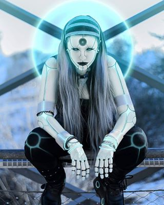 cyborg gothgirl droid cyberpunk artwork altgirl android biomechanics art fineart futurism editing model future cybergoth sf mecha enhanced instagood picoftheday symmetry manipulation sciencefiction robot goth cyber photoshop humanoid