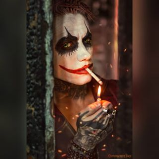tats creepy inked instagood character cigarette pyro bloody urbex fire performer malemodel smoke tattoed portrait red punkrave inkedguys photoshop cigarettes tattoo makeup photography joker picoftheday sparks smoking ink