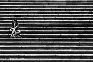 wait stairs spain santiagodecompostela nofilter blackandwhite