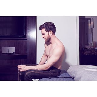studiochristianruess editorial blueeyes life beautiful skin light louisamodels menwithbeard hotel photography picoftheday photooftheday hotellife malemodel muscles weekend gustav model male bed menwithstyle