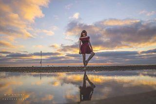 photoshoot norfolk photos model dress sunset photography dancer beach dance