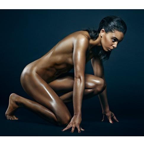running nude naked heptathlon fitness body athlete