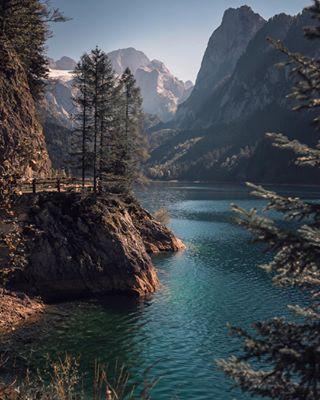 exploringnewplaces discoverearth landscapephotography turquoisewater nikon2470 glacierwater gosausee mountains🗻 roadtrip travel austria🇦🇹 nature nikond800 naturephotography