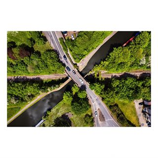 fromabove dji bridges isambardkingdombrunel threebridges isambardbrunel southall railroad dronestagram brunel ealing drone canal london