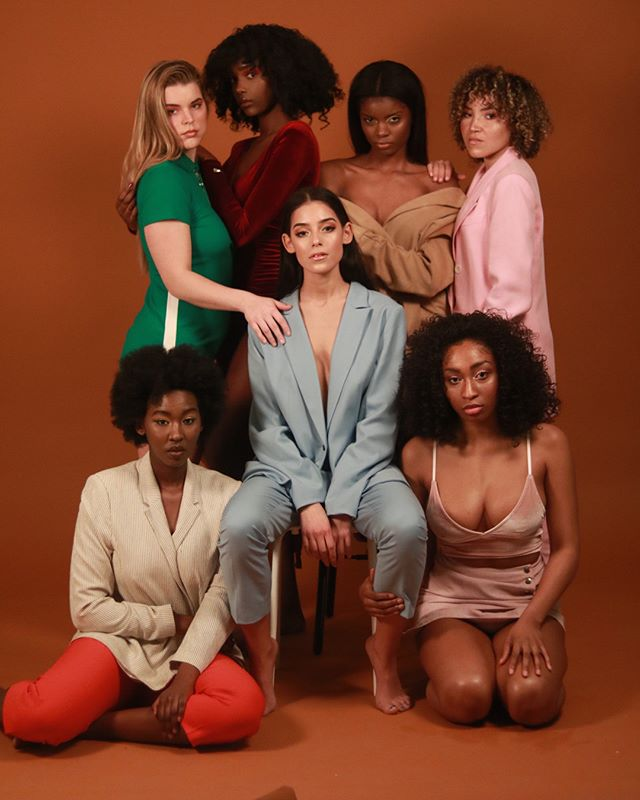 colors curly studioshoot girlpower