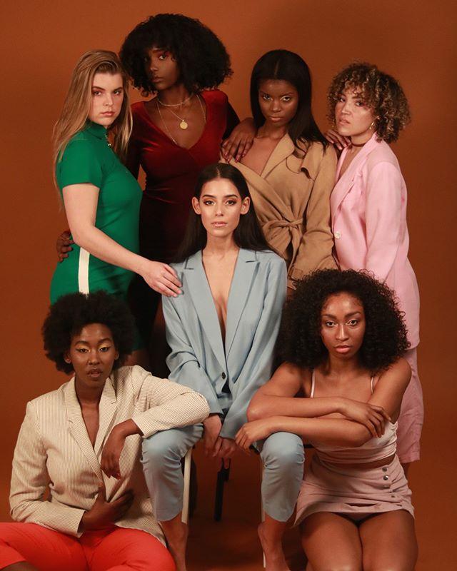curly studioshoot colors girlpower