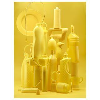 earth startsomething yellow plastic colorful digital studio graphic phaseone trash luisahanika minimalism photooftheday minimal sculpture stillife still photography plasticplanet setdesign