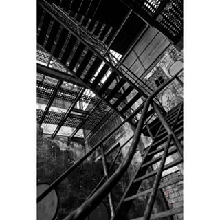 abandoned blackandwhite climbing factory lines places project research stairs