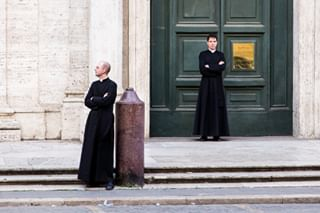 where priest double blackandwhite rome waiting looking roma