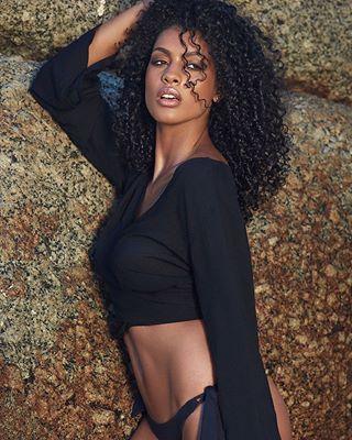 curlyhair sensual outdoors glamouros lefu southafrica model capetown brazilian beauty body sexy summer shining dreamgirl fitgirl thanks2myteam beachwear seductive lefuphoto rocks swimwear skin
