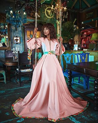 flamboyant lefuphoto chandelier extravagant thanks2mymodel blackgirl vibrant rose african outfit fairytale interior princess colorful lefu extraordinary fashion modelphotography apriciot design swing dreamlike cuban dress spectacular exclusive